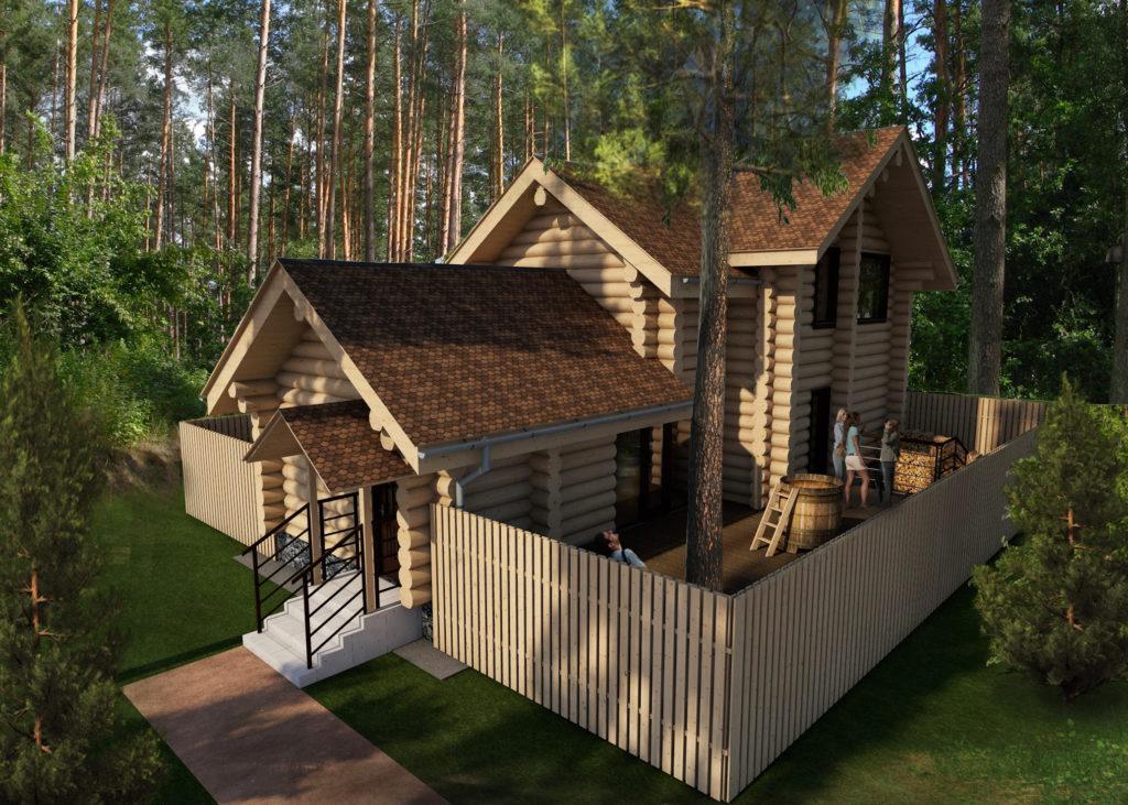 проект гостевого дома +с баней