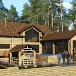 проект гостевого дома из бруса