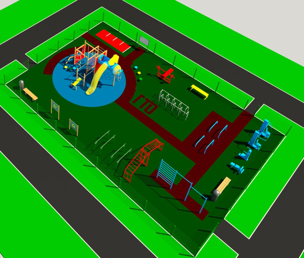 Детская спортивная площадка проектирование