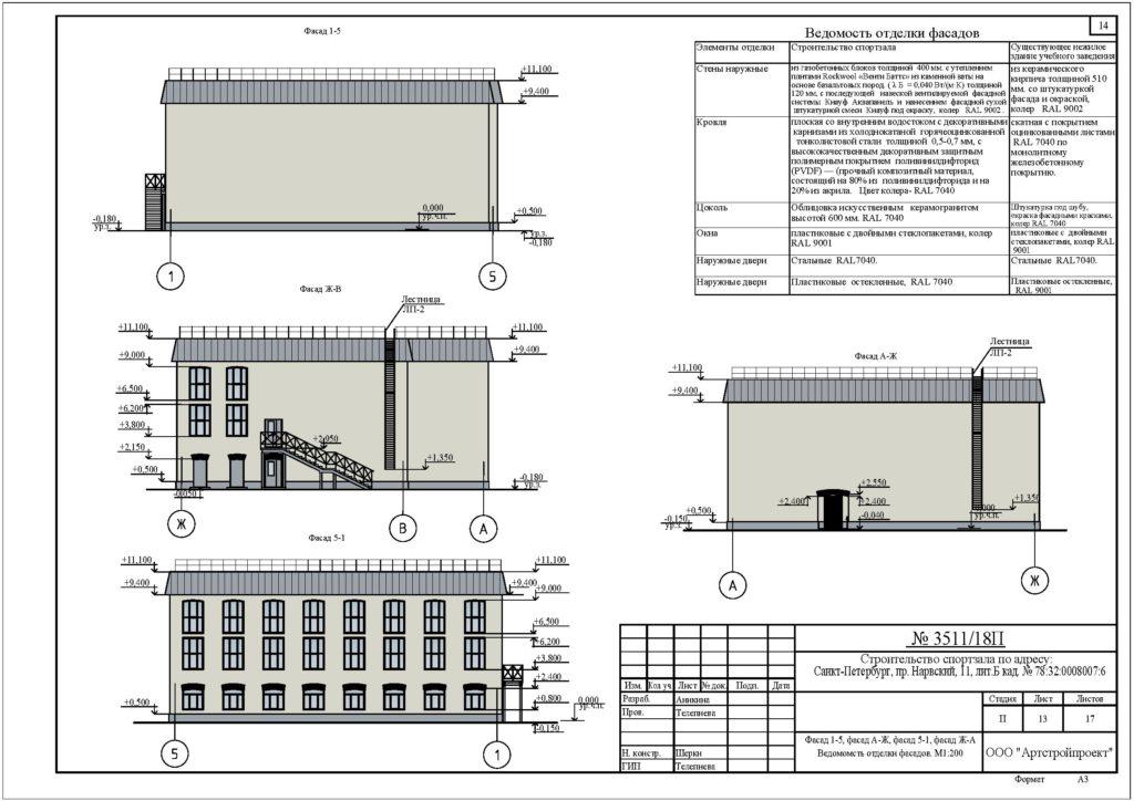 Проектирование спортивных залов